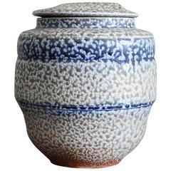 Karen Karnes, 1960s Salt Glaze Lidded Vessel