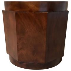 Dunbar Walnut Burl Side Table by Edward Wormley