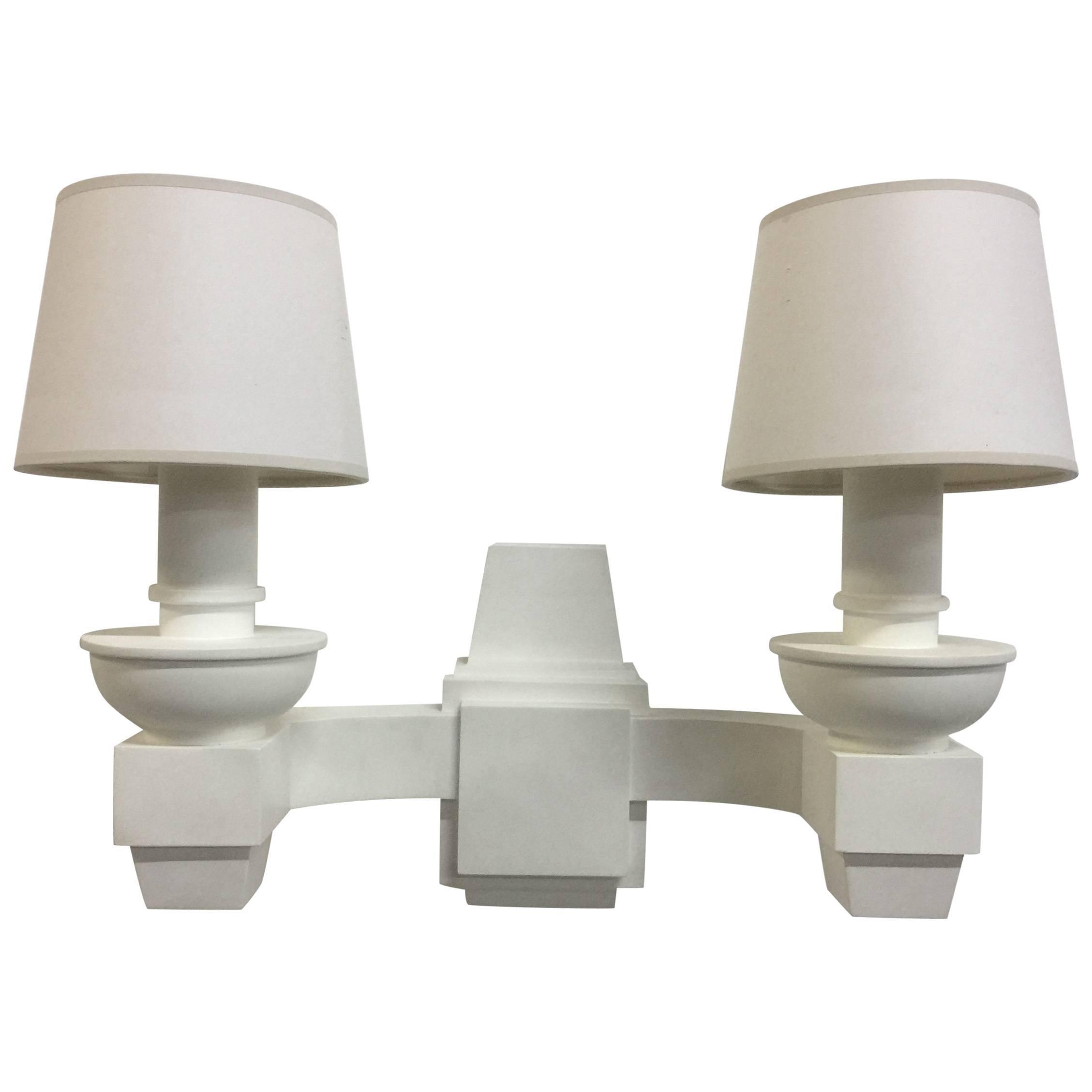 Arbus Style Double-Arm Wall Sconces,Pair