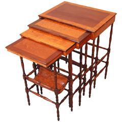 Antique Regency Quartetto Nest of Coffee Tables