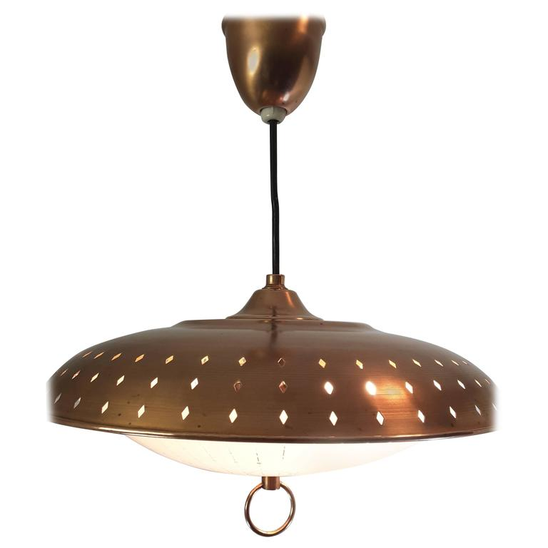 Gerald Thurston Solid Copper Egg Pendant Retractable