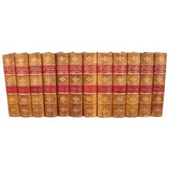 24 Volume Leather Bound History of Europe Published, 1845-1849
