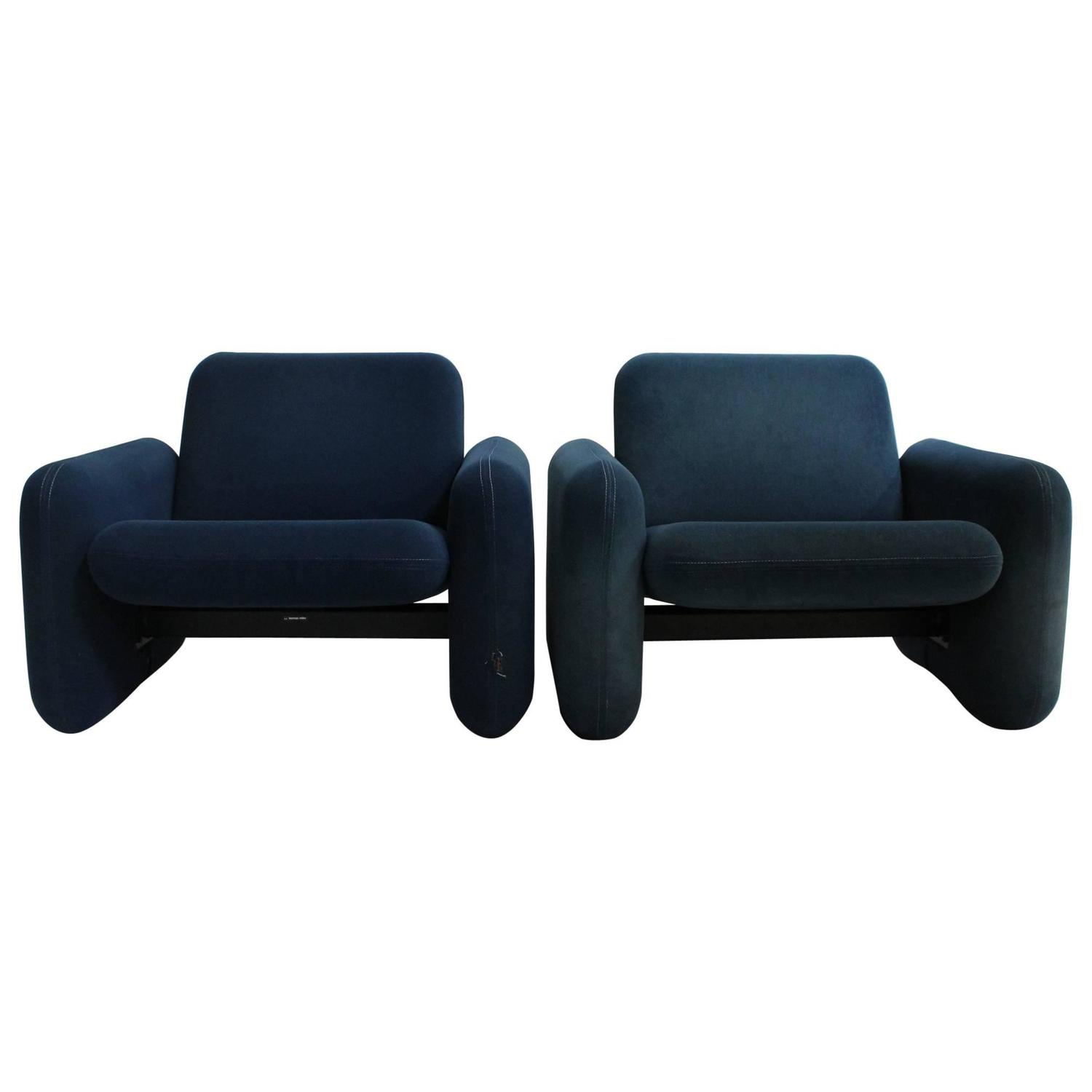 Ray Wilkes for Herman Miller Chiclet Chairs a Pair For Sale at