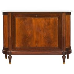 French Louis XVI Style Vintage Cuban Mahogany Bar