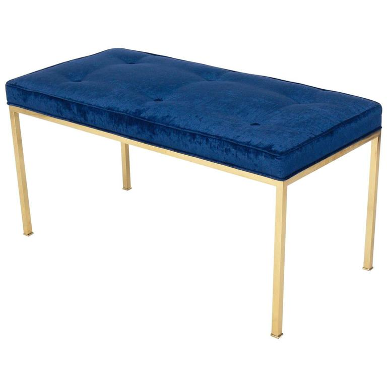 Clean Lined Brass Bench in the Manner of Edward Wormley for Dunbar