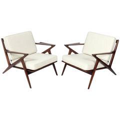 Danish Modern Lounge Chairs by Poul Jensen