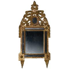 18th Century French Louis XVI Gilt Mirror