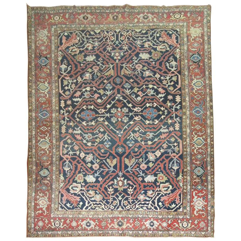 Antique Persian Serapi Rug For Sale