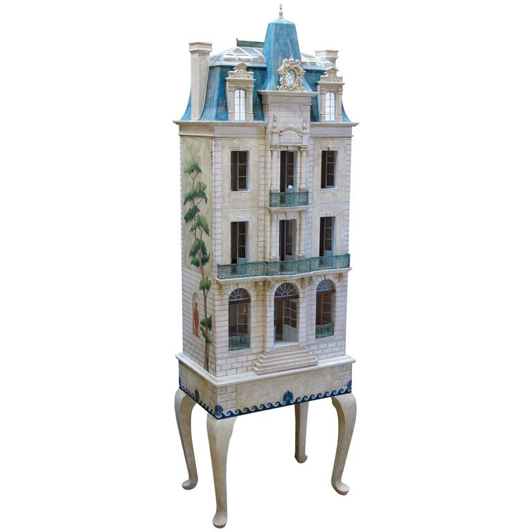 Rare and Masterfully Crafted Hand-Painted Doll House by Eric and Carole Lansdown 1