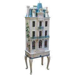 Rare and Masterfully Crafted Hand-Painted Doll House by Eric and Carole Lansdown
