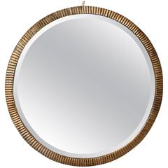 Art Moderne Silver Leaf Mirror