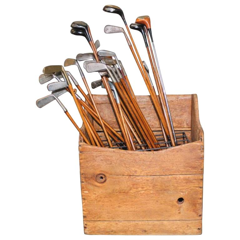 Collection of 40 Vintage Golf Clubs with Wooden Shaft 1