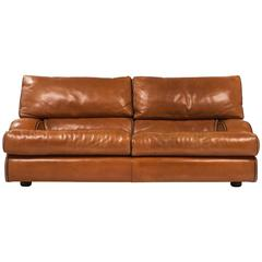 Italian Vintage Baxter Leather Sofa