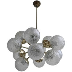 Sputnik Chandelier in Brass with Glass Balls, 1960s