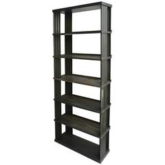 "Large Industrial Green Metal ""Congresso"" Bookcase by Lips"