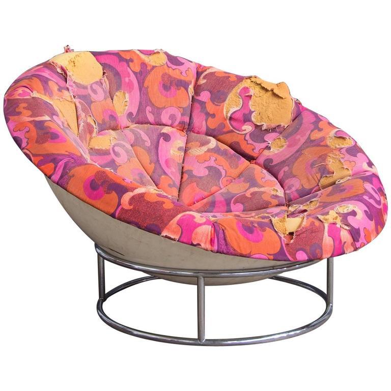 1970s U0027Birdu0027s Nestu0027 Verner Panton Style Lounge Chair