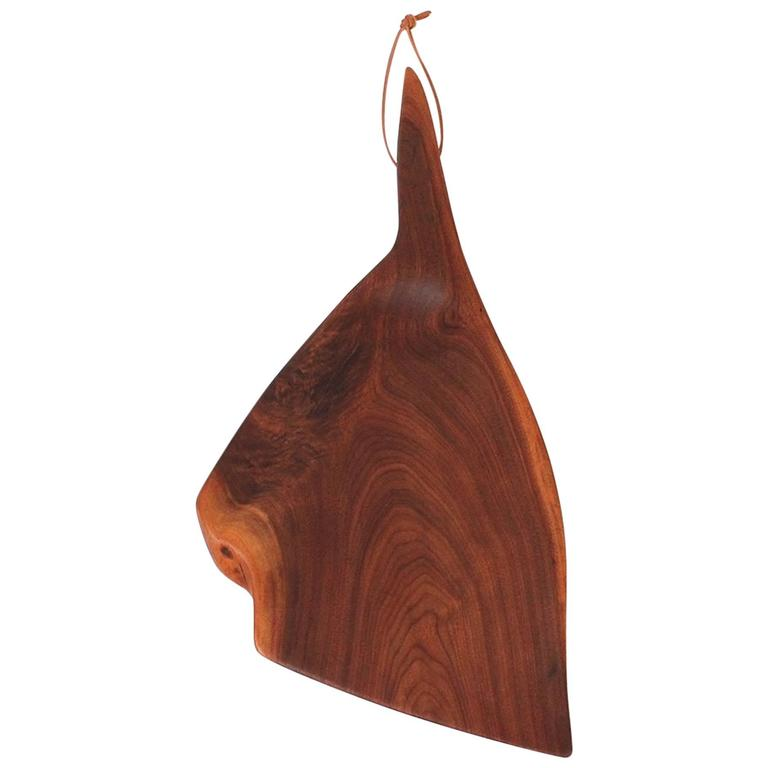 Sculptural Walnut Cutting Board by Dirk Rosse For Sale