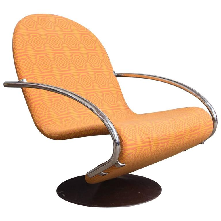 1973, Verner Panton, 1-2-3 Serie Easy Chair in Original Panton Fabric