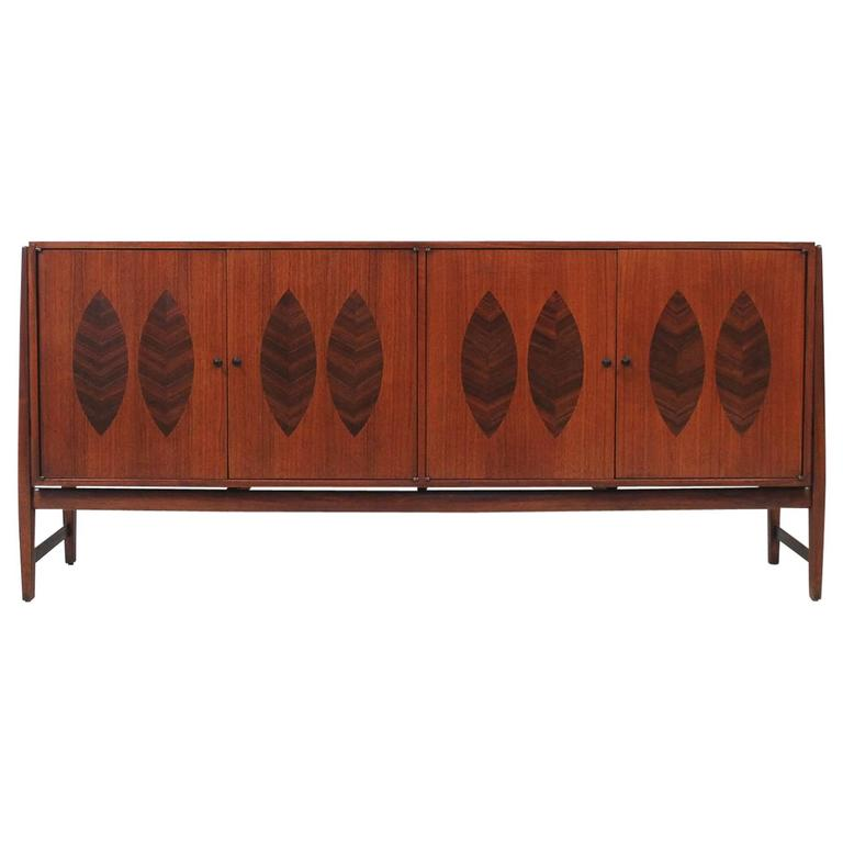 Walnut and Rosewood Cabinet by Kipp Stewart for Calvin