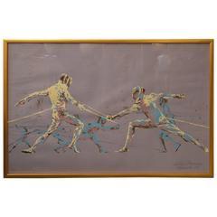 Leroy Neiman Fencers Print