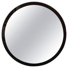 Two Color Lucite Round Mirror