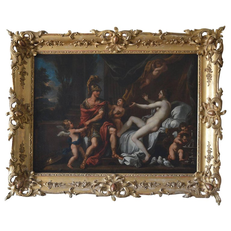 18th Century Italian Painting on Canvas For Sale