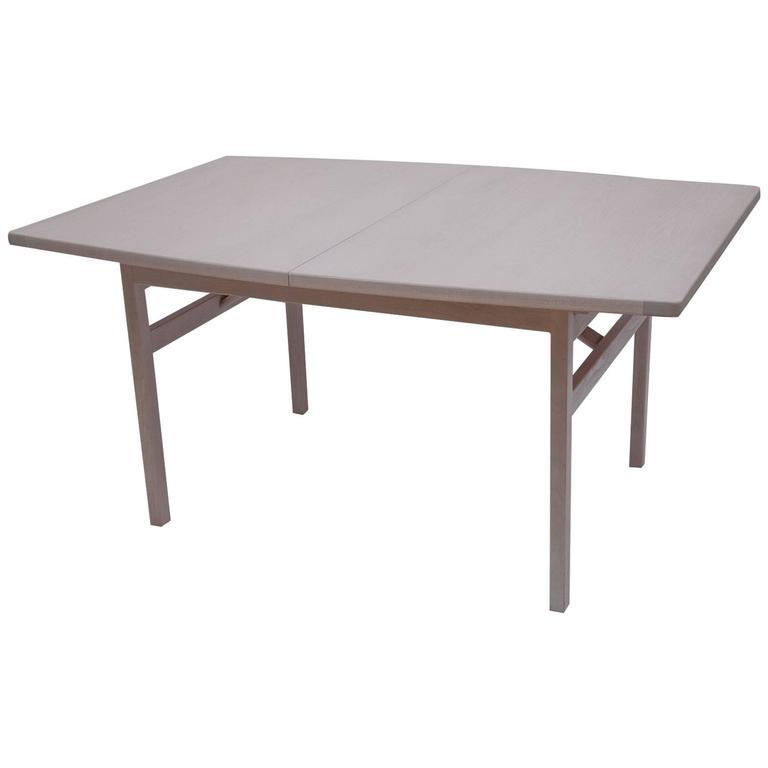 Jens Risom Bleached Walnut Dining Table