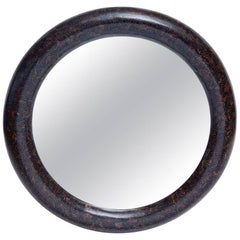Professionally Restored 1980s  Palm Root Inlaid Mirror by Enrique Garces