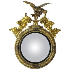 Large English Regency Period Convex Mirror, England, 1810