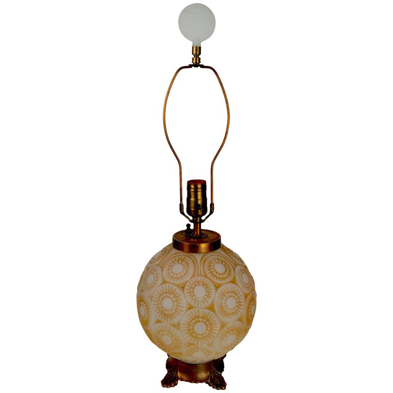 Art Deco Lamp after Lalique For Sale