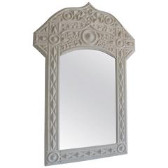 Monumental Tramp Art Mirror