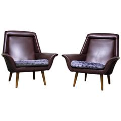 Pair of Vintage Purple Cocktail Chairs, 1960s