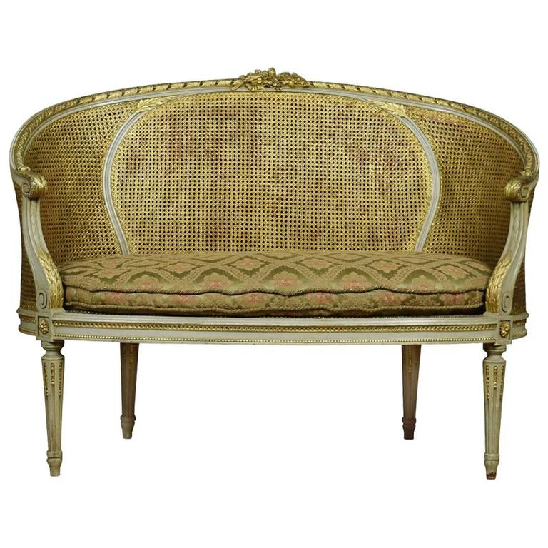 louis xvi style canap 233 settee for sale at 1stdibs