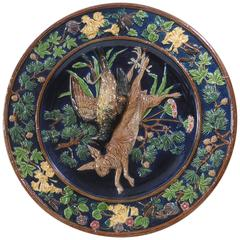 19th Century Austrian Majolica Trophies Wall Charger Johann Maresh
