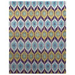Modern Design Soft Pile Handknotted Rug
