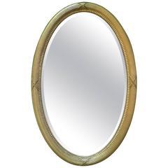 Edwardian Giltwood Oval Mirror