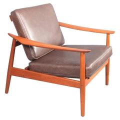 Charmant Arne Vodder Teak Reclining Lounge Chair Model 164, France And Son, 1960s At  1stdibs