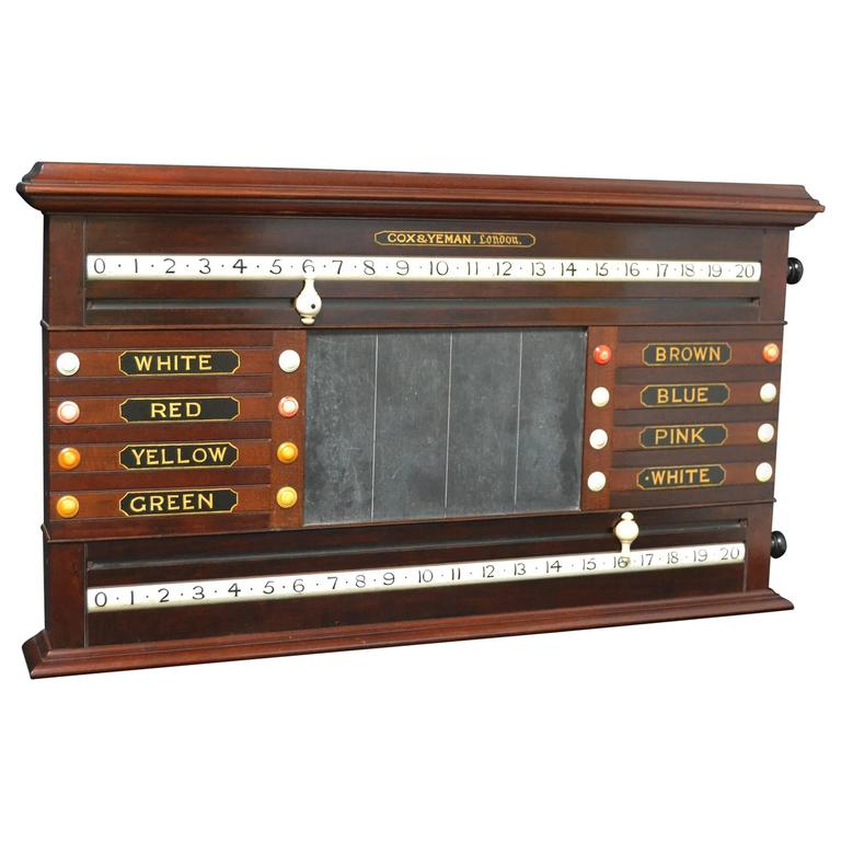 A billiard snooker life pool scorer marker circa 1860 english victorian mahogany For Sale
