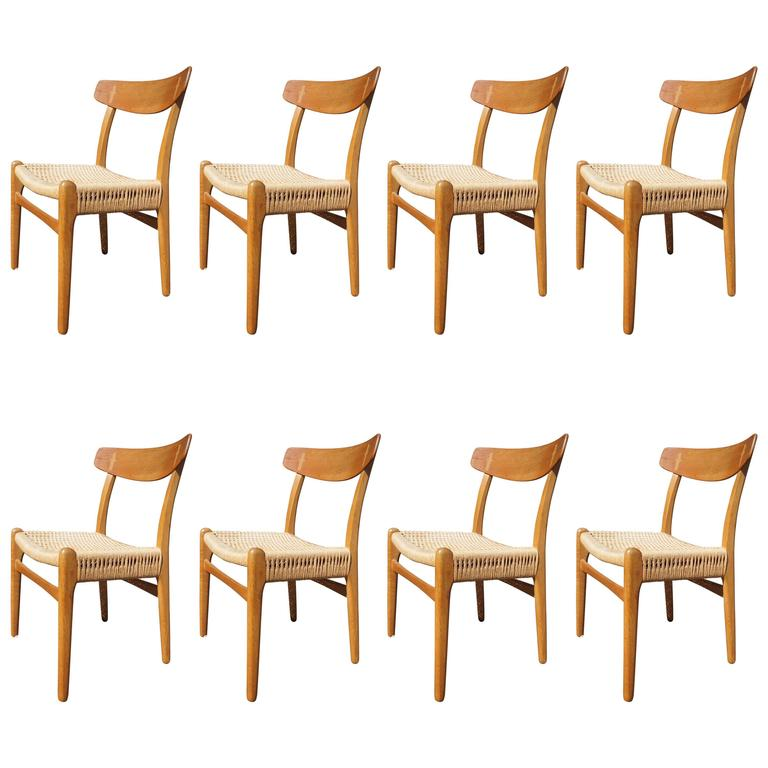 Set of Eight CH-23 Dining Chairs by Hans Wegner for Carl Hansen & Søn
