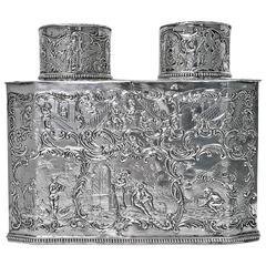 Very Rare Silver Double Tea Caddy, Germany, circa 1890