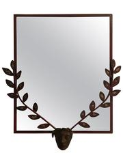 Exceptional Giacometti Style Mid-Century Steel Mirror