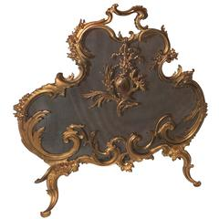 Wonderful Large French Rococo Gilt Bronze Filigree Fire Place Screen Firescreen