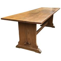 20th Century Oak Dining Table, Arts and Crafts Era