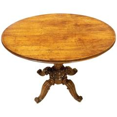 Fine Quality Rosewood Early Victorian Period Occasional Table