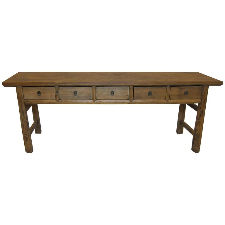 Rustic Sofa Tables For Sale: Rustic Console Table For Sale At 1stdibs