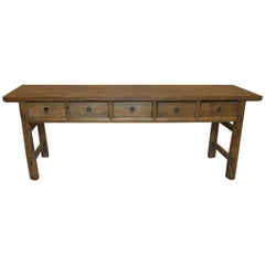 19th Century Rustic Console Table
