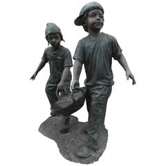 Bronze Garden Statue - Children