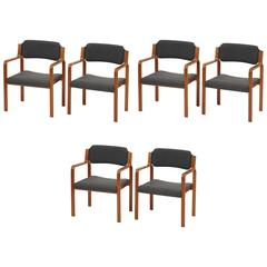 Set of Six TON Armchairs, Czechoslovakia, 1975