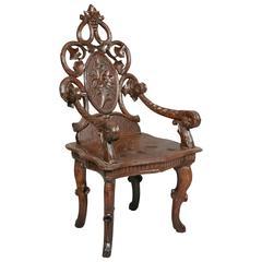 Swiss Walnut Miniature Chair