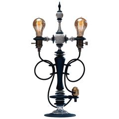 Contemporary Thompson Lamp Glass Lighting Fixture